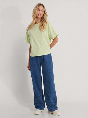 NA-KD Reborn Ekologisk Oversize T-shirt Med 3/4-ärm grön