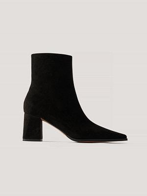 NA-KD Shoes Boots I Mockaimitation Med Smal Tå svart