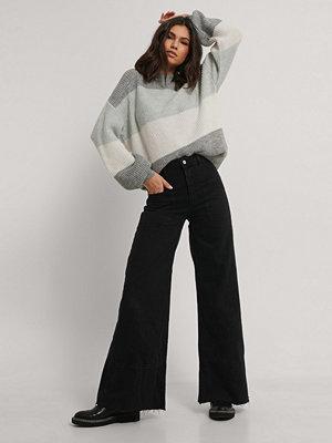 Trendyol High Waisted Wide Jeans svart