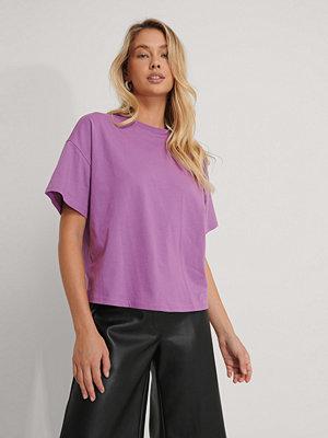 NA-KD Basic Ekologisk Oversize T-shirt Med 3/4-ärm lila