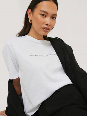 NA-KD Reborn T-Shirt Med Tryck vit