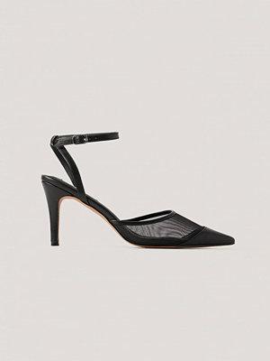 NA-KD Shoes Högklackade Med Spetsig Tå svart