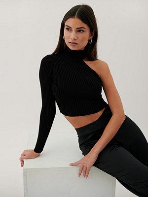 Paola Locatelli x NA-KD Recycled Topp Med En Ärm Och Hög Hals svart