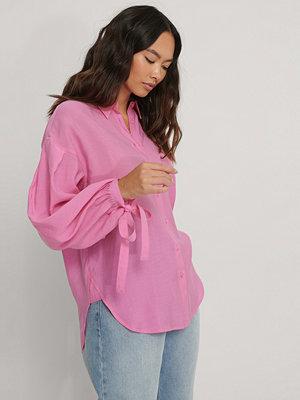 NA-KD Trend Oversize Skjorta Med Ballongärm rosa