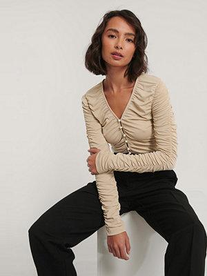 NA-KD Trend Jersey-Topp beige