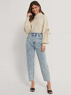 Jeans - NA-KD Jeans Med Paperwaist blå