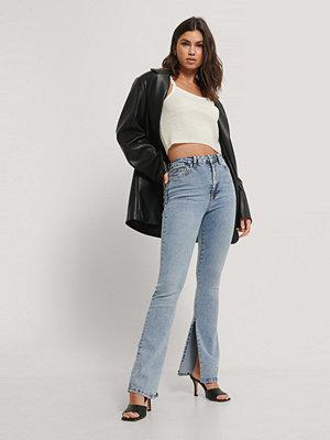 Jeans - Trendyol Utsvängda Jeans Med Hög Midja blå