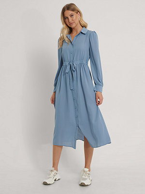 NA-KD Boho Skjortklänning I Midimodell blå