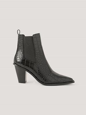 Pumps & klackskor - NA-KD Shoes Spetsiga Stövlar Med Blockklack svart