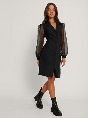 Trendyol Midiklänning Med Mesh-Ärmar svart