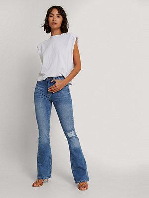 Trendyol Utsvängda Jeans Med Hög Midja blå