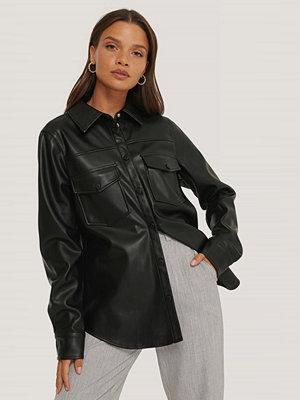 NA-KD Trend Pu-Skjorta Med Dubbla Fickor svart