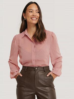 NA-KD Skjortblus Med Knappar rosa