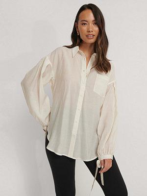 NA-KD Trend Oversize Skjorta Med Ballongärm offvit