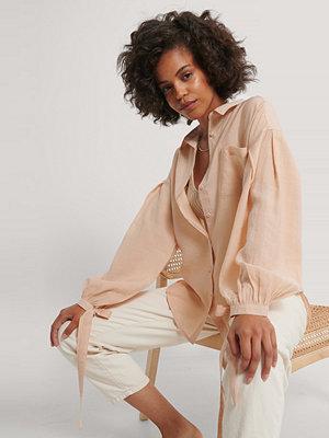 NA-KD Trend Oversize Skjorta Med Ballongärm beige