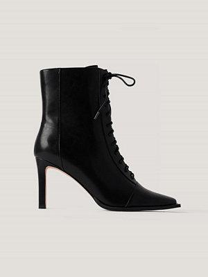 Boots & kängor - NA-KD Shoes Boots Med Snörning Och Fyrkantig Tå svart