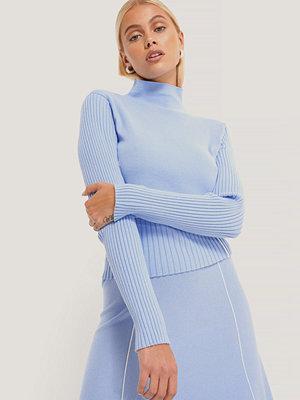 NA-KD Trend Lätt Stickad Tröja Med Sömdetalj blå