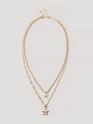 NA-KD Accessories Halsband Med Hängsmycke guld