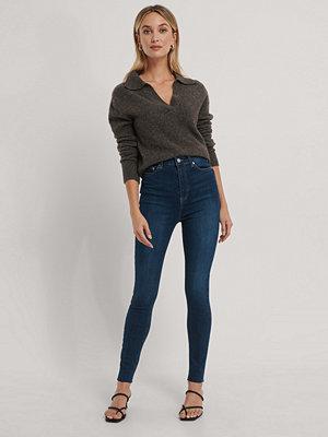 NA-KD Reborn Ekologiska Skinny Jeans Med Superhög Midja blå