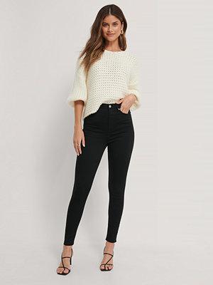Jeans - NA-KD Reborn Ekologiska Skinny Jeans Med Superhög Midja svart