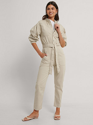 Jumpsuits & playsuits - NA-KD Trend Färgad Jumpsuit I Denim beige