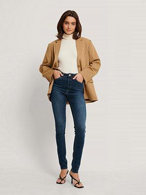 Jeans - NA-KD Reborn Ekologiska Skinny Jeans Med Hög Midja blå