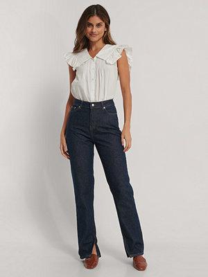 Jeans - NA-KD Reborn Ekologiska Jeans Med Slits I Sidan blå