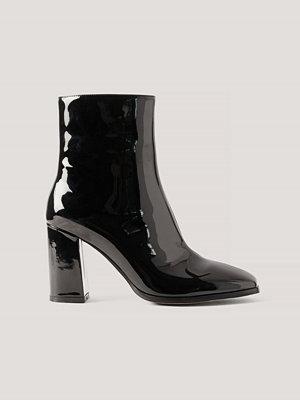 NA-KD Shoes Lackboots Med Fyrkantig Tå svart