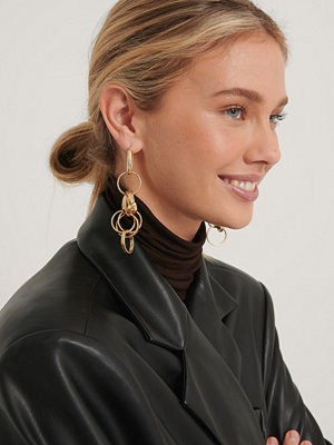 NA-KD Accessories smycke Messy Chain Earrings guld