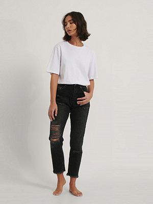 Jeans - NA-KD Reborn Ekologiska Jeans svart