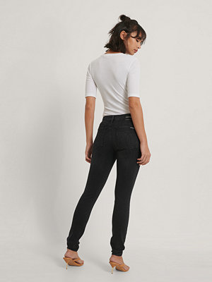 Jeans - Calvin Klein Jeans Med Medelhög Midja svart