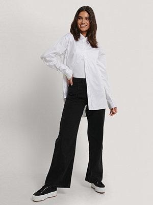 Jeans - Trendyol Byxor Med Vida Ben Och Hög Midja svart