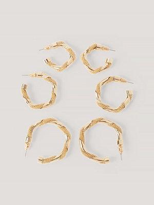 NA-KD Accessories smycke 3-Pack Örhängen guld