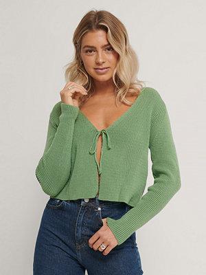 Trendyol Stickad Cardigan grön
