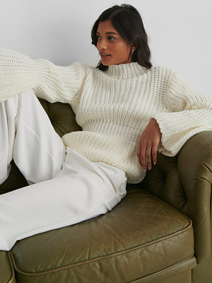 Tröjor - Trendyol Knit Sleeve Detail Sweater offvit