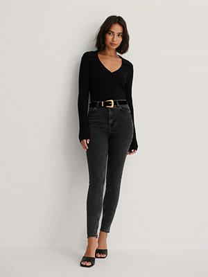 Trendyol Skinny Jeans Med Hög Midja svart