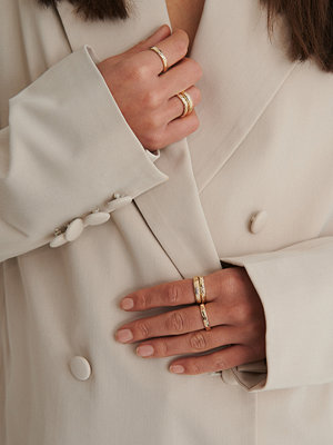 NA-KD Accessories smycke Ringset guld