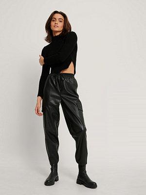 NA-KD Trend Pu-Byxor Med Elastisk Midja svart svarta