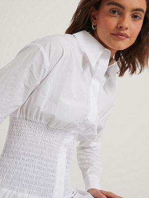 NA-KD Reborn Recycled Oversize Skjorta vit