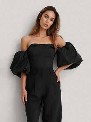 NA-KD Trend Off-Shoulder-Blus Med Ballongärm svart