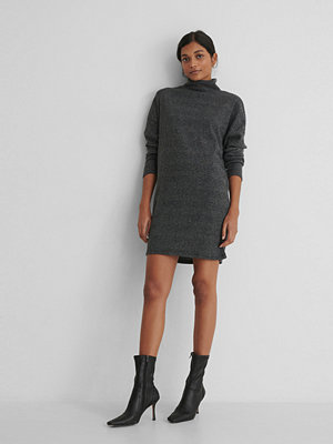 Trendyol Turtleneck Knit Sweater Dress grå