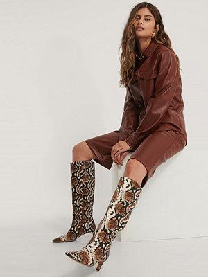 NA-KD Shoes Boots Med Fyrkantig, Lång Tå Och Skaft multicolor