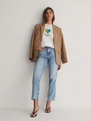 Trendyol Ekologisk T-shirt Med Logga vit