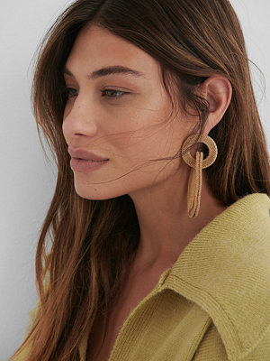 NA-KD Accessories smycke Asymmetric Cage Earrings guld