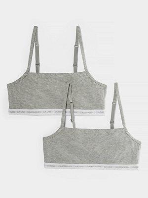 Calvin Klein Ofodrad Bomullsbralette grå