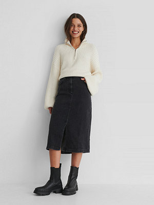 Mango Bay Denim Skirt svart
