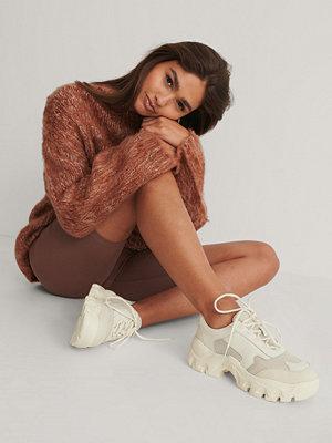 NA-KD Shoes Chunky Gympaskor beige