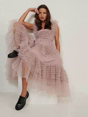 NA-KD ART Tulle Dress rosa
