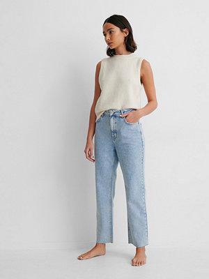 NA-KD Reborn Ekologiska Raka Jeans Med Hög Midja blå