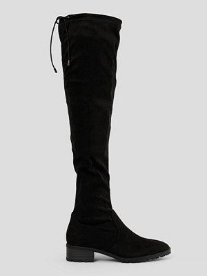 NA-KD Shoes Basic Overknees Med Profilsula svart